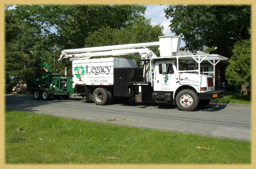 Legacy bucket truck and chipper